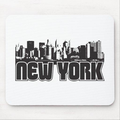 Horizonte de Nueva York Tapete De Ratón