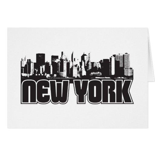 Horizonte de Nueva York Tarjeta Pequeña