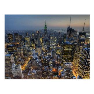Horizonte de Nueva York Tarjetas Postales