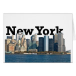 Horizonte de Nueva York Tarjetón