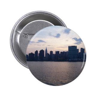 Horizonte de NYC - botón Pin Redondo De 2 Pulgadas