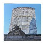 Horizonte de NYC: Chrysler que construye la sombra Azulejo Cuadrado Pequeño