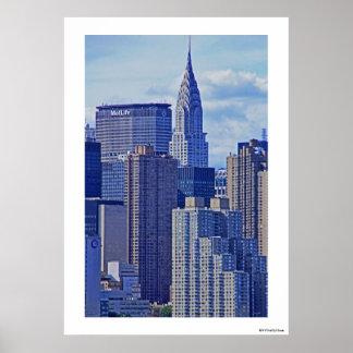 Horizonte de NYC: Construcción de Chrysler, hecha  Poster