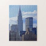 Horizonte de NYC: Construcción de Chrysler, hecha  Rompecabezas