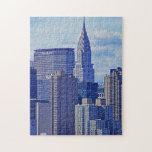 Horizonte de NYC: Construcción de Chrysler, hecha  Puzzles Con Fotos