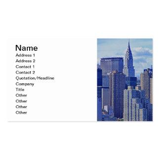 Horizonte de NYC: Construcción de Chrysler, hecha Tarjetas De Visita