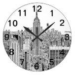 Horizonte de NYC - Empire State Building, mirada Reloj De Pared