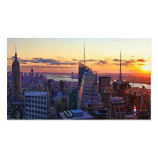 Horizonte de NYC: ESB, Bank of America, 4 veces Plantilla De Tarjeta Personal