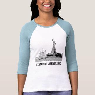 Horizonte de NYC: Estatua de la libertad y del Playera