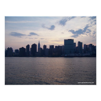 Horizonte de NYC - impresión de la lona Impresiones