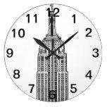 Horizonte de NYC - mirada del Empire State Reloj Redondo Grande