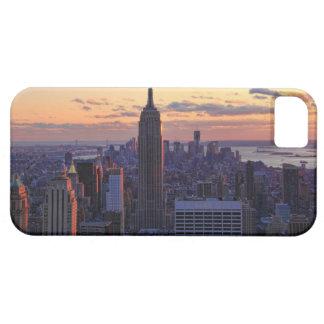 Horizonte de NYC momentos antes de la puesta del iPhone 5 Cárcasa