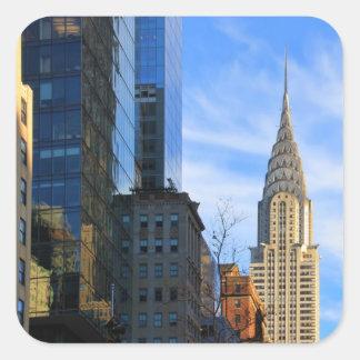Horizonte de NYC: Opinión del Midtown de la Pegatina Cuadrada