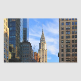 Horizonte de NYC: Opinión del Midtown de la Pegatina Rectangular