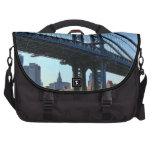 Horizonte de NYC: Puente #3 de Manhattan Bolsas Para Portátil