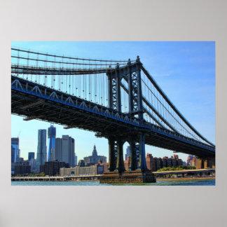 Horizonte de NYC: Puente #3 de Manhattan Impresiones