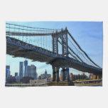 Horizonte de NYC: Puente #3 de Manhattan Toallas De Mano
