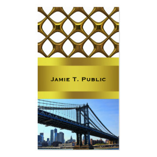 Horizonte de NYC: Puente #3 de Manhattan Tarjetas De Visita