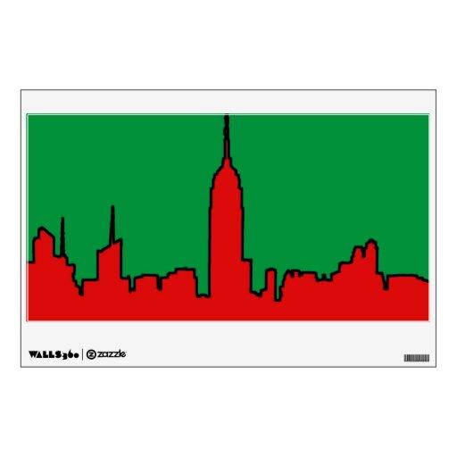 Horizonte de NYC: Silueta del navidad del ESB