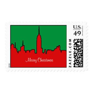 Horizonte de NYC: Silueta del navidad del ESB Sellos