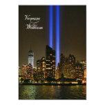 Horizonte de NYC: Tributo de WTC 9/11 en el boda Anuncios