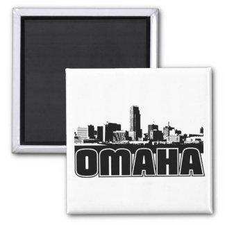 Horizonte de Omaha Imán Cuadrado
