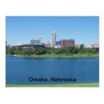 Horizonte de Omaha, Nebraska en lona Tarjeta Postal