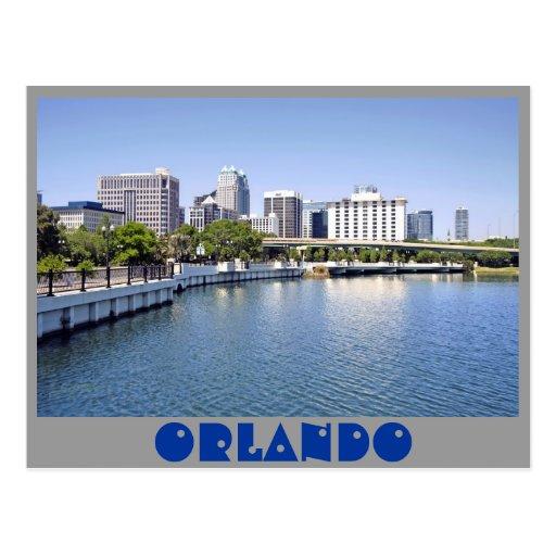 Horizonte de Orlando del lago Alfalfa Postal