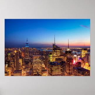 Horizonte de oro 12x18 de New York City archival Impresiones