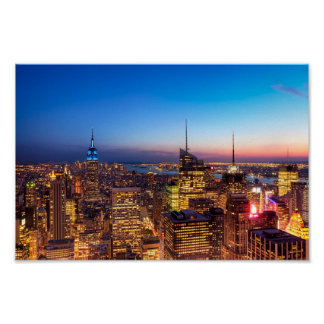 Horizonte de oro 8x12 de New York City archival Poster