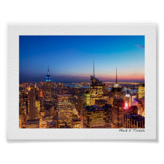 Horizonte de oro de New York City - mini Impresiones