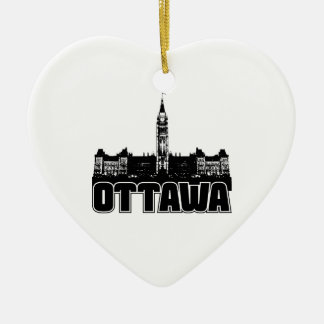 Horizonte de Ottawa Adorno De Cerámica En Forma De Corazón
