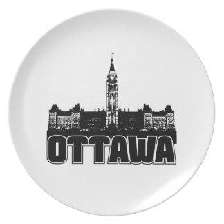 Horizonte de Ottawa Plato De Cena