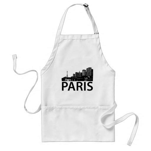 Horizonte de París Delantal