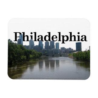 Horizonte de Philadelphia con Philadelphia en el c Iman Rectangular