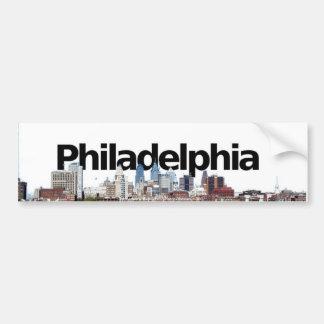 Horizonte de Philadelphia con Philadelphia en el c Pegatina Para Auto