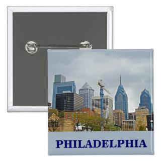 Horizonte de Philadelphia del paseo del río Pin Cuadrada 5 Cm