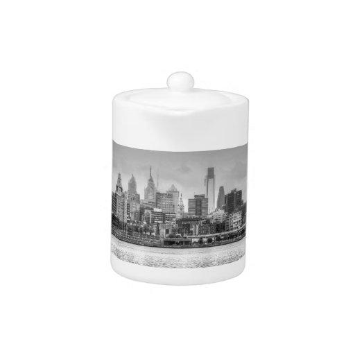 Horizonte de Philadelphia en blanco y negro