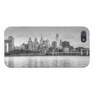 Horizonte de Philadelphia en blanco y negro iPhone 5 Funda