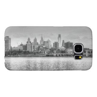 Horizonte de Philadelphia en blanco y negro Fundas Samsung Galaxy S6