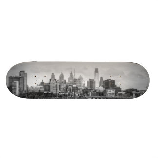 Horizonte de Philadelphia en blanco y negro Patin Personalizado