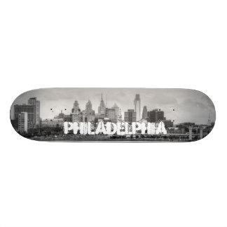 Horizonte de Philadelphia en blanco y negro Monopatines Personalizados