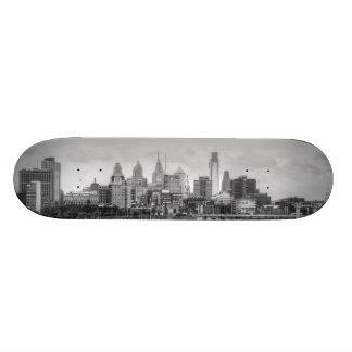 Horizonte de Philadelphia en blanco y negro Tablas De Patinar