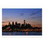 Horizonte de Philadelphia en el crepúsculo Invitaciones Personalizada