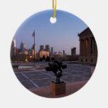 Horizonte de Philadelphia en la oscuridad Adorno De Reyes