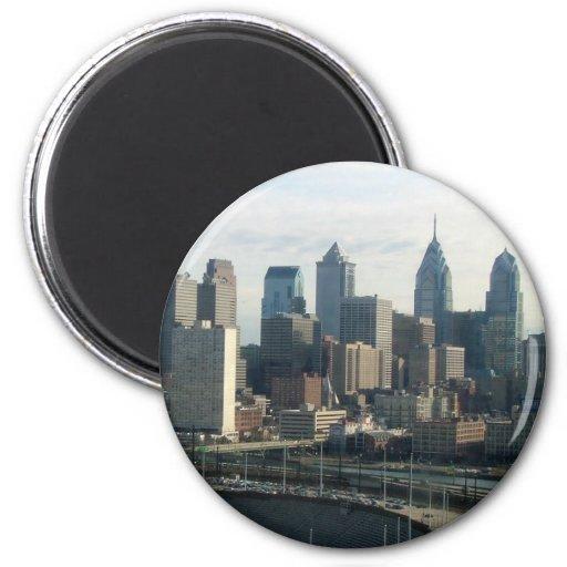 Horizonte de Philadelphia Imán Redondo 5 Cm