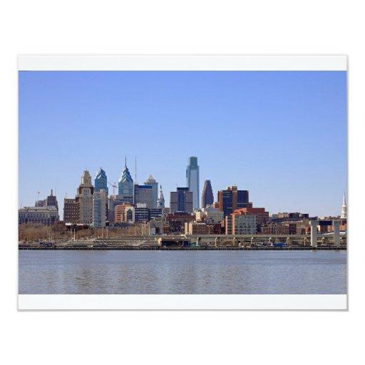 "Horizonte de Philadelphia Invitación 4.25"" X 5.5"""