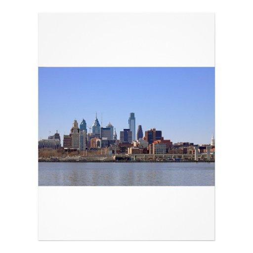 Horizonte de Philadelphia Membretes Personalizados