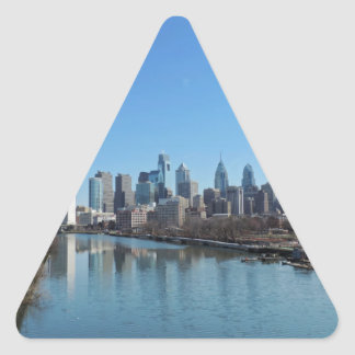 Horizonte de Philadelphia Calcomanía Triangulo Personalizadas
