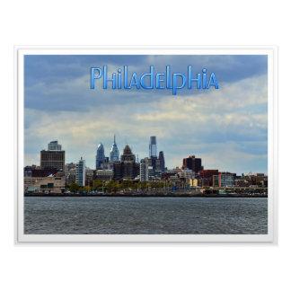 Horizonte de Philadelphia Tarjeta Postal